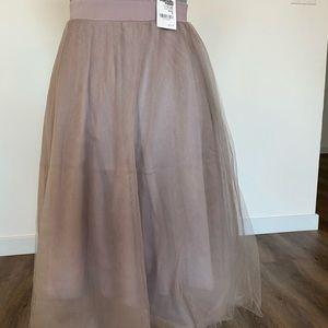 Charlotte Russ Tulle Skirt Midi Purple Small